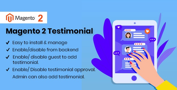 Magento 2 Extension Testimonial - CodeCanyon Item for Sale
