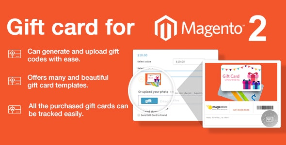 Gift card for Magento 2 Extension - CodeCanyon Item for Sale