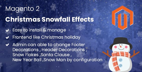 Magento 2 Christmas Snowfall Effects