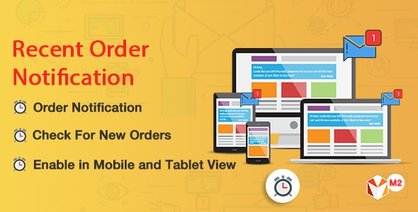 Recent Order Notification Magento 2 - CodeCanyon Item for Sale