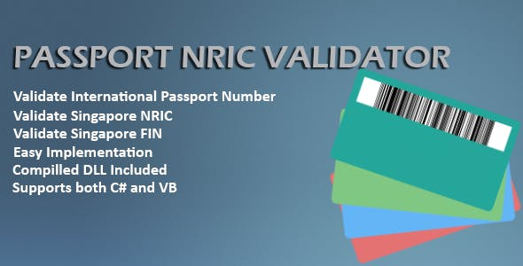 Passport and NRIC Validator