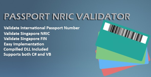 Passport and NRIC Validator - CodeCanyon Item for Sale