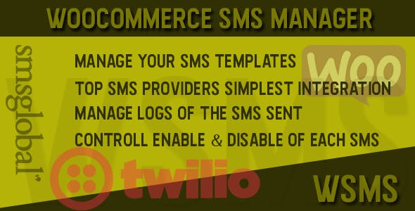 Woocommerce SMS Manager - WSMS