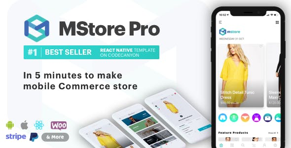 MStore Pro - Complete React Native template for e-commerce