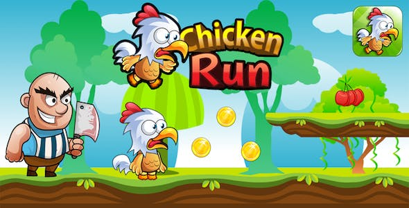 Chicken Run + Endless Action And Adventure Game + Android + IOS + Ready For Publish