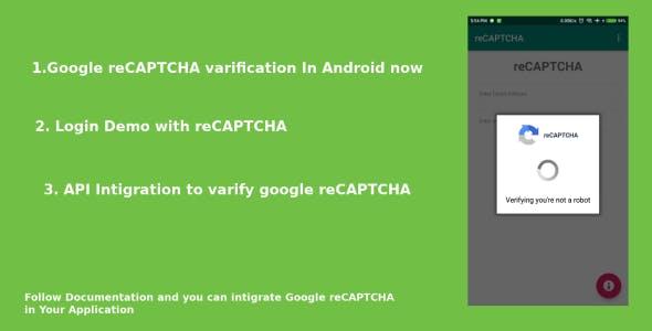 reCAPTCHA verify in android app