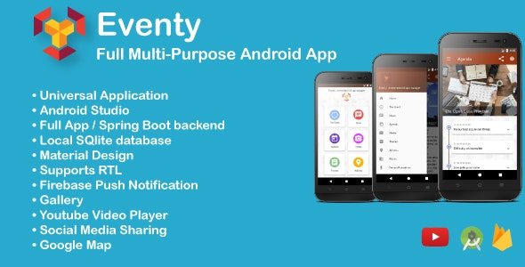 Eventy- Full Multi-Purpose Android App - CodeCanyon Item for Sale