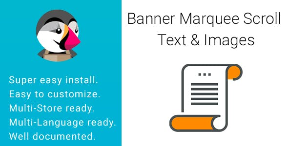 Banner Marquee Scroll Text & Images