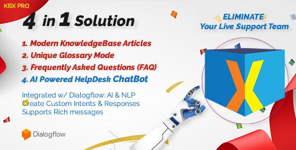 KnowledgeBase Glossary, FAQ & HelpDesk ChatBot - CodeCanyon Item for Sale