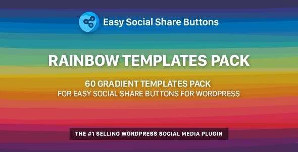 Rainbow Templates Pack for Easy Social Share Buttons