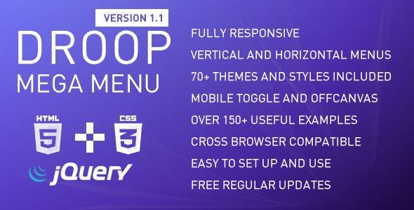 Droop Mega Menu - CodeCanyon Item for Sale