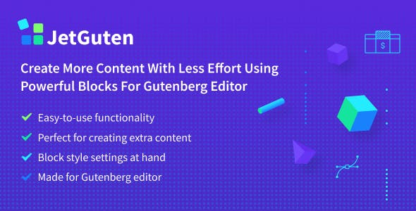 JetGuten — Blocks Set Addon for Gutenberg Editor - CodeCanyon Item for Sale