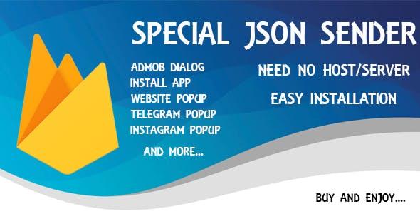 Special Firebase JSON Sender - Android App