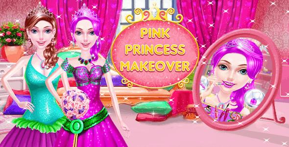 Pink Princess Makeup Salon Spa- Makeover Girls Games