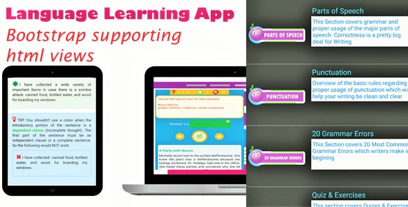 Language Learning - Android App with Bootstrap - CodeCanyon Item for Sale