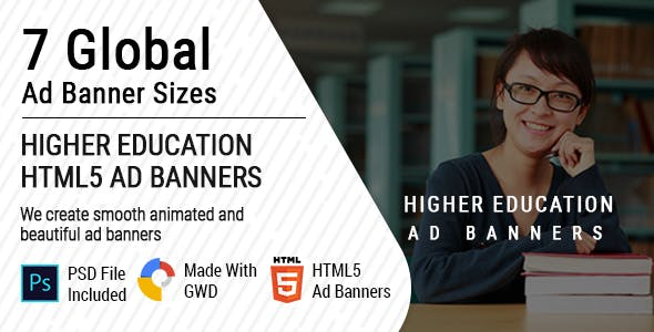 Higher Education Ad Banners
