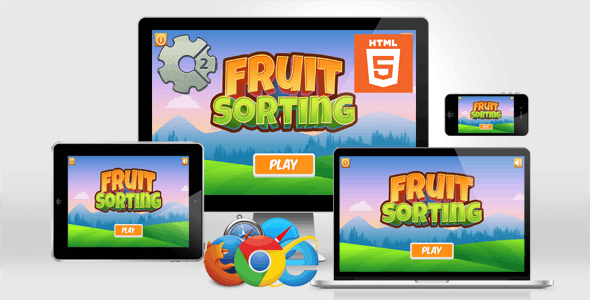 Fruit Sorting Game - HTML5 Educational Game - CAPX
