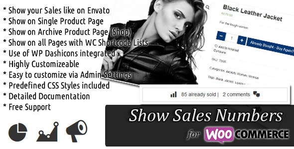 WooCommerce Show Sales Numbers (SSN) - CodeCanyon Item for Sale