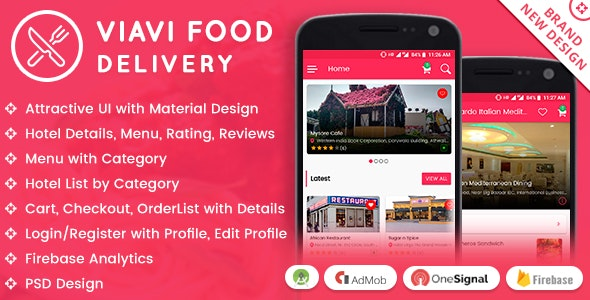 Viavi Food Delivery Android App by viaviwebtech | CodeCanyon