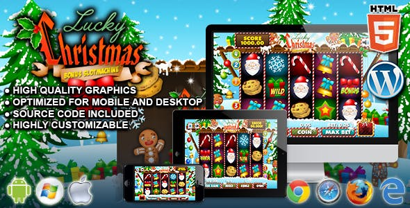 Slot Lucky Christmas - HTML5 Casino Game