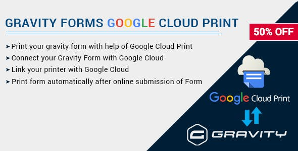 Gravity Forms with Google Cloud Printer