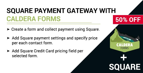 Square payment gateway with Caldera Forms
