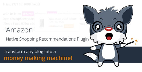 Amazon Native Shopping Recommendations Plugin - CodeCanyon Item for Sale