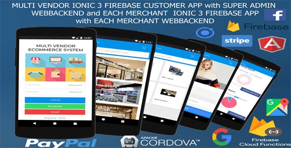 MultiVendor ECommerce IONIC 3 FIREBASE /Customer and Manager app,SuperAdmin and Manager webbackend/ - CodeCanyon Item for Sale