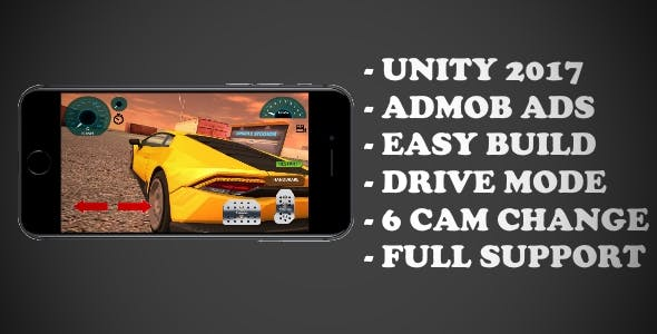 SuperSport Car - ( Unity - Admob - Android - IOS)