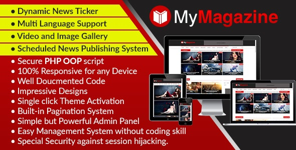 MyMagazine - Bootstrap Newspaper, Magazine and Blog CMS Script - CodeCanyon Item for Sale