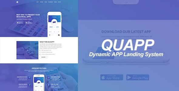 QUAPP - Dynamic App Landing Page Management System - CodeCanyon Item for Sale