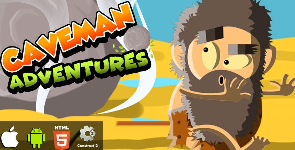 Caveman Adventures - HTML5 Game (CAPX) - CodeCanyon Item for Sale