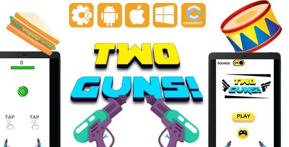 Two Guns - HTML5 Game (CAPX)