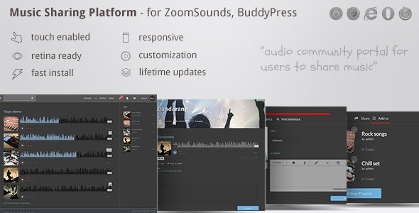 Music Sharing Platform - for Wordpress / ZoomSounds Addon, BuddyPress integrated - CodeCanyon Item for Sale