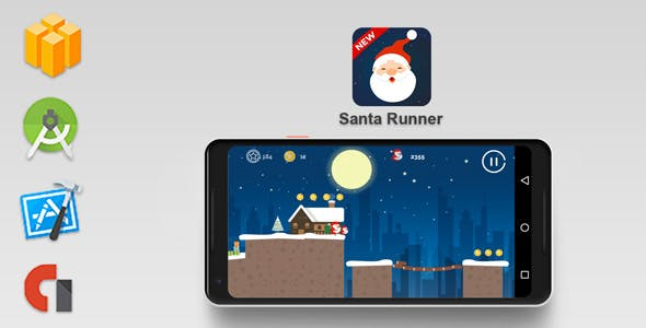 Santa Runner : Wherer is Santa Claus - Buildbox Template