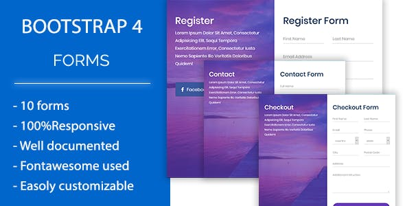 Roform - Modern Bootstrap 4 Forms