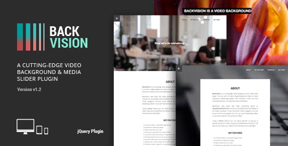 BackVision - jQuery Video Background & Slider Plugin