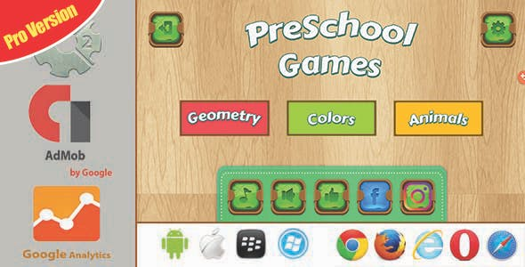 PreSchool Games Pro Version - Construct 2/3 HTML5 With Admob + GDPR (Multi Language)