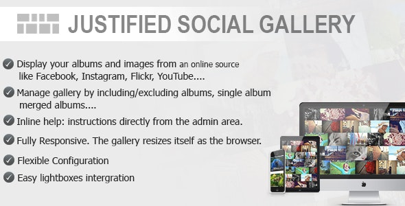 Justified Social Gallery - CodeCanyon Item for Sale