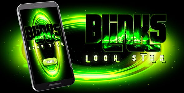 Blinks Lock Star Android iOS Buildbox with Custom Ads