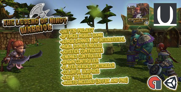 The Legend Of Nindy Warrior Unity3D Game Source Code + Admob Ads