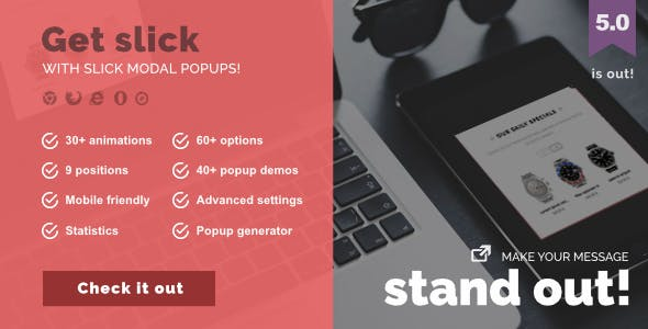 Slick Modal - CSS3 Powered Popups        Nulled
