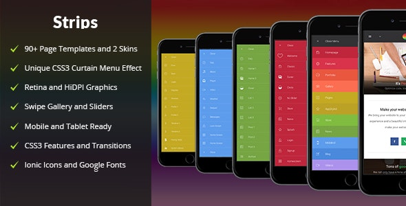 Strips  | PhoneGap & Cordova Mobile App - CodeCanyon Item for Sale