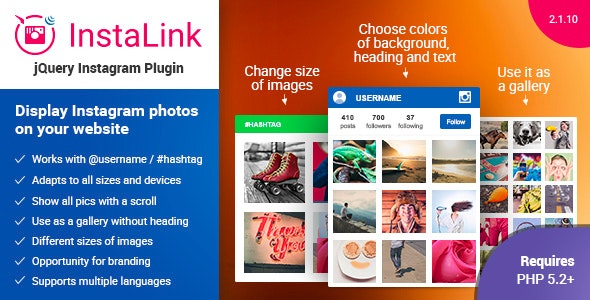 Instagram Plugin - jQuery Instagram Widget - CodeCanyon Item for Sale