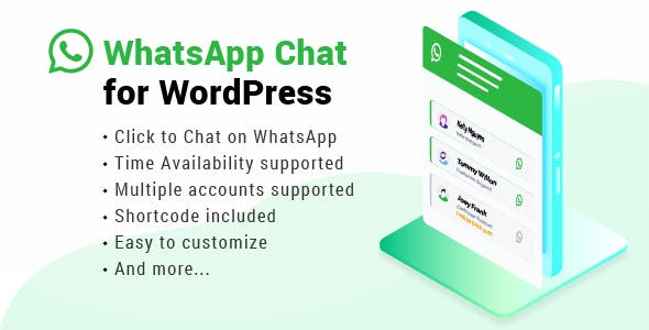 WhatsApp Chat WordPress - CodeCanyon Item for Sale