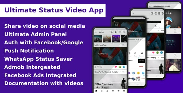 Ultimate Status Video App - CodeCanyon Item for Sale