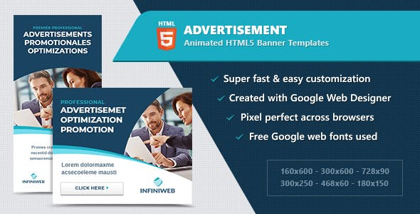HTML5 Animated Web Banners - Multipurpose / Business