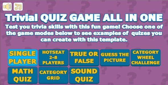 Trivial Quiz Game All In One
