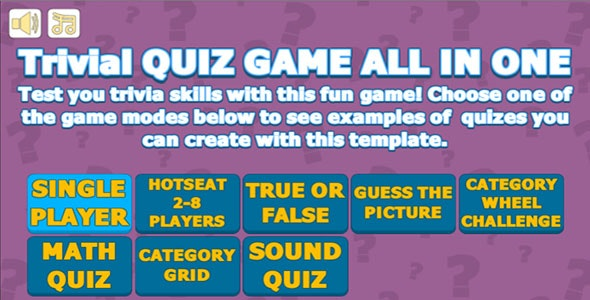 Trivial Quiz Game All In One by ulverbrook | CodeCanyon