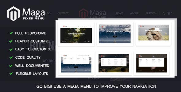 B-MAGA MENU - Full Responsive Header Navigation Menu jquery